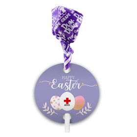 Personalized Easter Add Your Logo Dum Dums with Gift Tag (75 pops)