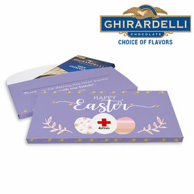 Deluxe Personalized Easter Add Your Logo Ghirardelli Chocolate Bar in Gift Box