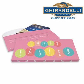 Deluxe Personalized Easter Egg Party Ghirardelli Chocolate Bar in Gift Box