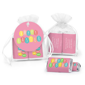 Personalized Easter Egg Party Hershey's Miniatures in XS Organza Bags with Gift Tag
