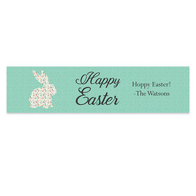 Personalized Easter Floral Bunny Banner