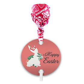 Easter Floral Bunny Dum Dums with Gift Tag (75 pops)