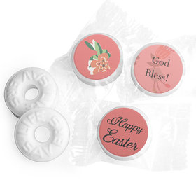 Personalized Easter Floral Bunny Life Savers Mints