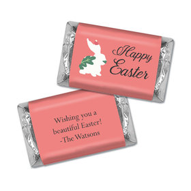 Personalized Easter Floral Bunny Hershey's Miniatures
