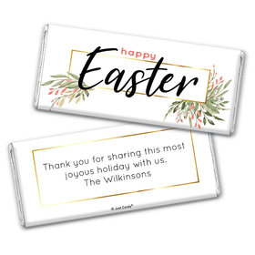 Personalized Easter Flowers Chocolate Bars