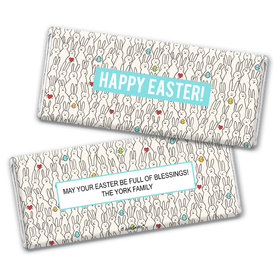 Personalized Easter Parade of Bunnies Chocolate Bars