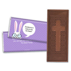 Personalized Easter Bunny Message Bubble Embossed Chocolate Bars