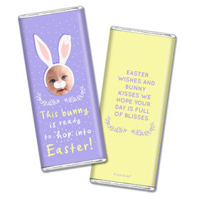 Personalized Easter Bunny Photo Chocolate Bars