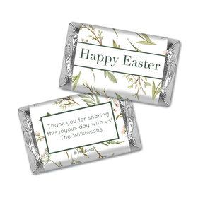 Personalized Easter Spring Greenery Hershey's Miniatures