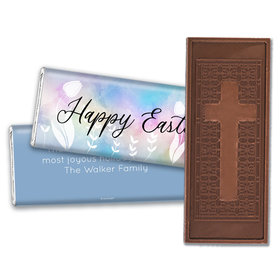 Personalized Easter Timeless Tulips Embossed Chocolate Bars