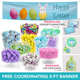 Personalized Easter Eggs Deluxe Candy Buffet