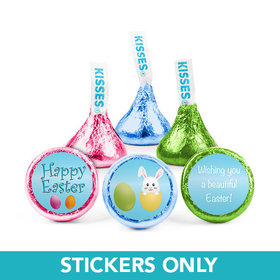 "Personalized Easter Hatched a Bunny 3/4""Stickers (108 3/4""Stickers)"