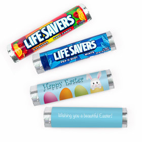 Personalized Easter Hatched a Bunny Lifesavers Rolls (20 Rolls)