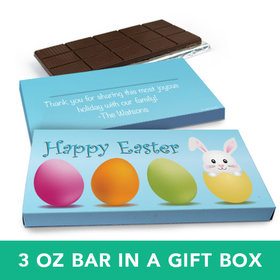 Deluxe Personalized Easter Hatched a Bunny Chocolate Bar in Gift Box (3oz Bar)