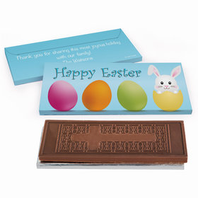 Deluxe Personalized Easter Hatched a Bunny Chocolate Bar in Gift Box