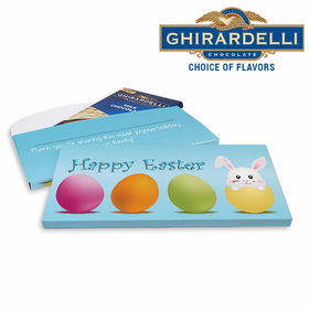 Deluxe Personalized Easter Hatched a Bunny Ghirardelli Chocolate Bar in Gift Box