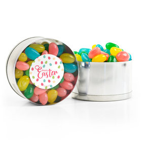Easter Stars & Dots Spring Mix Jelly Beans Small Plastic Tin