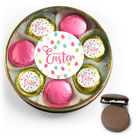 Easter Eggs & Flowers Belgian Chocolate Covered Oreo Cookies Large Plastic Tin