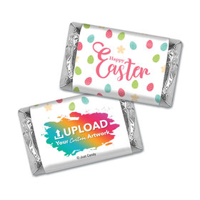 Add Your Logo Easter Eggs & Flowers Mini Wrappers