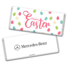Add Your Logo Easter Eggs & Flowers Chocolate Bar Wrappers