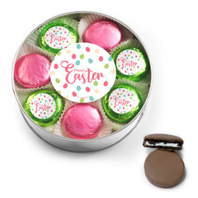 Easter Eggs & Flowers Belgian Chocolate Covered Oreo Cookies Extra-Large Plastic Tin
