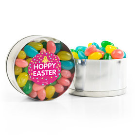 Easter Pink Chick Spring Mix Jelly Beans Small Plastic Tin