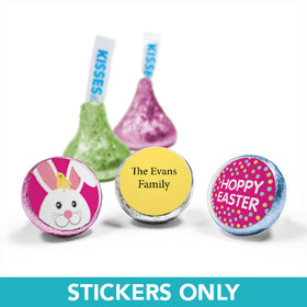 "Personalized Easter Pink Chick 3/4"" Sticker (108 Stickers)"