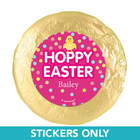"Personalized Easter Pink Chick 1.25"" Stickers (48 Stickers)"