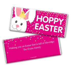 Personalized Easter Pink Chick Chocolate Bar Wrappers