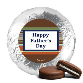 Father's Day Stripe Pattern Milk Chocolate Covered Oreos