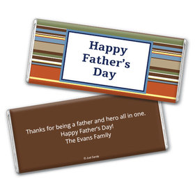 Personalized Father's Day Stripes Chocolate Bar