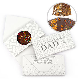 Personalized Father's Day Classic Dad Gourmet Infused Belgian Chocolate Bars (3.5oz)