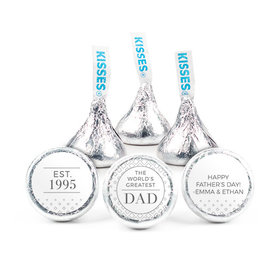 """Personalized Father's Day Classic Dad 3/4"""" Stickers (108 Stickers)"""