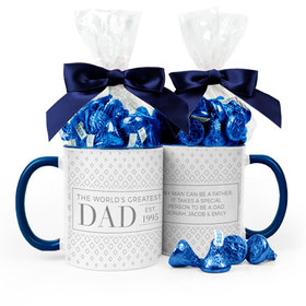 Personalized Father's Day Classic Dad 11oz Mug 1/2lb KISSES