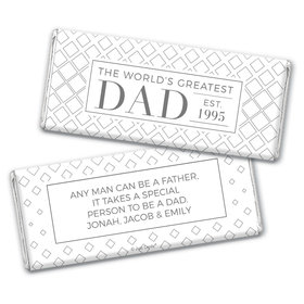 Personalized Father's Day Classic Dad Chocolate Bar