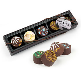 Father's Day Wisdom & Wilderness Gourmet Belgian Chocolate Truffle Gift Box (5 Truffles)