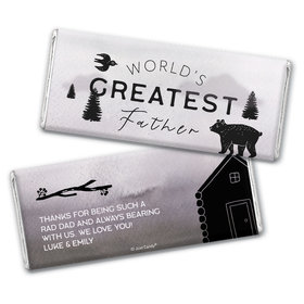 Personalized Father's Day Wisdom & Wilderness Chocolate Bar Wrappers