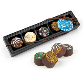 Father's Day Dad's a FUNgi Gourmet Belgian Chocolate Truffle Gift Box (5 Truffles)