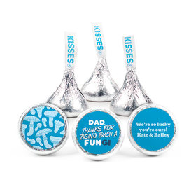 """Personalized Father's Day Dad's a FUNgi 3/4"""" Stickers (108 Stickers)"""