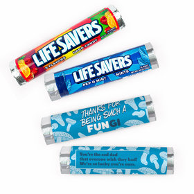 Personalized Father's Day Dad's a FUNgi Lifesavers Rolls (20 Rolls)