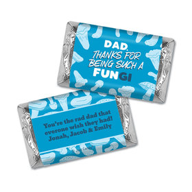 Personalized Father's Day Dad's a FUNgi Hershey's Miniatures Wrappers