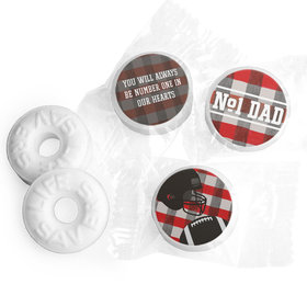 Personalized Father's Day Football Dad Life Savers Mints