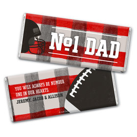 Personalized Father's Day Football Dad Chocolate Bar Wrappers