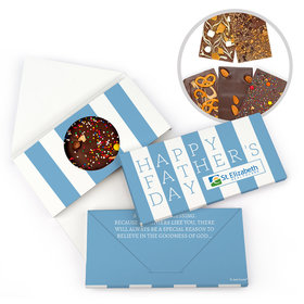 Personalized Father's Day Pillar of Strength Gourmet Infused Belgian Chocolate Bars (3.5oz)