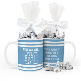 Personalized Father's Day #1 Dad 11oz Mug 1/2lb KISSES