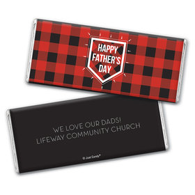 Personalized Father's Day Modern Plaid Chocolate Bar