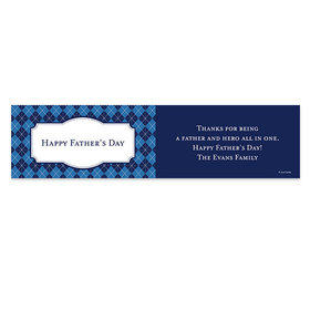 Personalized Argyle Pattern Father's Day 5 Ft. Banner