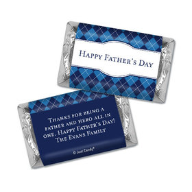 Personalized Father's Day Hershey's Miniatures Argyle Pattern