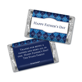 Personalized Father's Day Hershey's Miniatures Wrappers Argyle Pattern