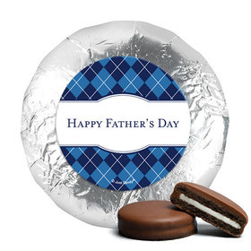 Father's Day Argyle Pattern Milk Chocolate Covered Oreos